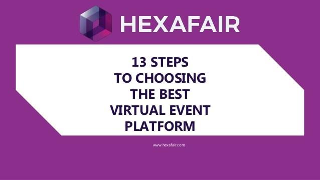 13 STEPS TO CHOOSING THE BEST VIRTUAL EVENT PLATFORM – Presentation
