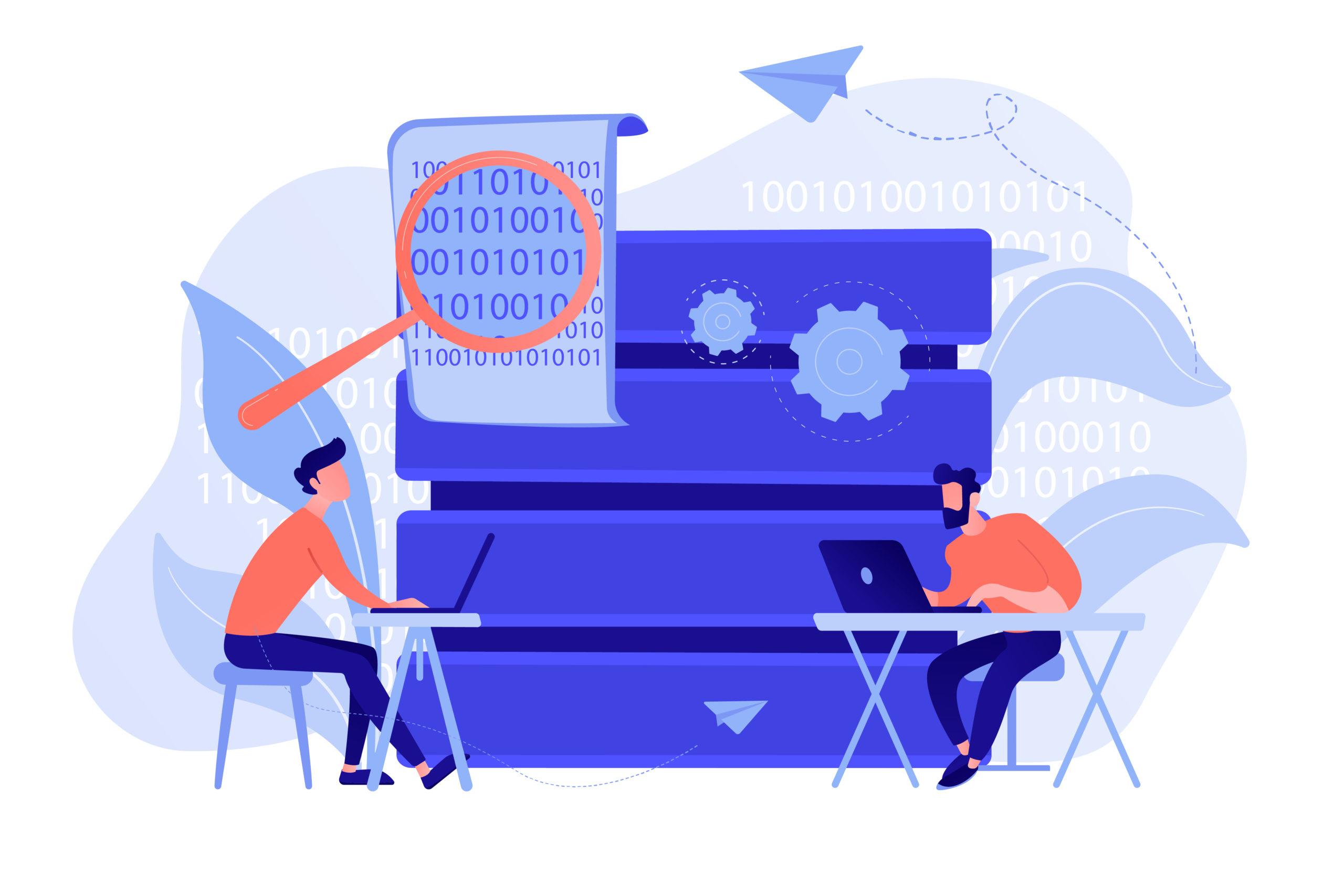 Big data programming concept vector illustration.